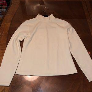 White long sleeve tee/ thin sweater